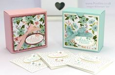 Stampin' Up! Demonstrator Pootles - Pretty Box for 3x3 cards... Or for Soaps! click HERE to find out more! I love pretty boxes! And recently I was wandering around Pinterest and came across a gorge...