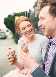 Add some extra sweetness to your engagement shoot