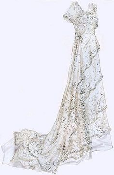 white titanic dress, if I get married can I get married in this? Vestidos Vintage, Vintage Gowns, Vintage Outfits, Edwardian Dress, Edwardian Fashion, Vintage Fashion, Titanic Wedding, 1920s Wedding, Dream Wedding