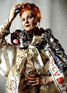 Westwood.    Vivienne Westwood, this woman knows how to adapt to generations.