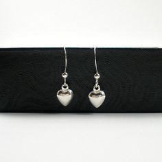 Valentine Earrings Silver Heart Earrings by StarringYouJewelry