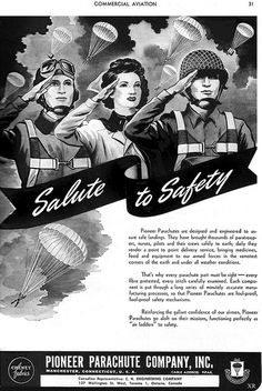 It's a salute to safety! (1944) #vintage #1940s #WW2 #propaganda