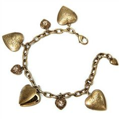 Heart Locket Charm Bracelet - Burnished Bronze @knittedbelle #knittedbelle