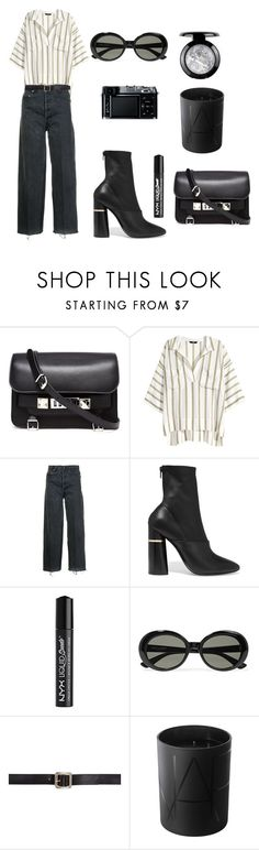 """""""Untitled #341"""" by themodlook ❤ liked on Polyvore featuring Proenza Schouler, H&M, RE/DONE, 3.1 Phillip Lim, NYX, Yves Saint Laurent, Maison Margiela, Retrò and NARS Cosmetics"""