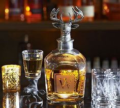 Shop whiske decanter from Pottery Barn. Our furniture, home decor and accessories collections feature whiske decanter in quality materials and classic styles. Cheers, Game Room Bar, Whiskey Decanter, Whiskey Drinks, Scotch Whiskey, Cocktails, Lounge, Glass Dishes, Hand Blown Glass