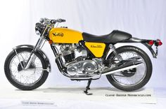 1971 Norton750 Commando, my second bike, yes in yellow!  Good for 115mph,,  (generic image)
