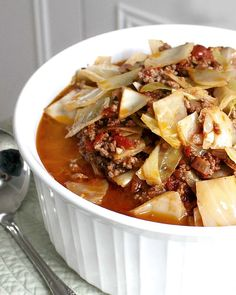 Easy unstuffed cabbage is a soup or stew-like bowl full of all the delicious flavors of stuffed cabbage rolls without all the work.