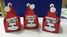 KarinNettchen: Kleine Weihnachtseulen für Rocherverpackung
