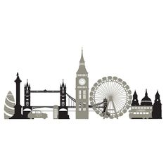 Image result for london skyline silhouette