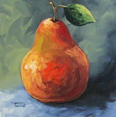 pear art | Harvest Pear ~ New Pear Painting~