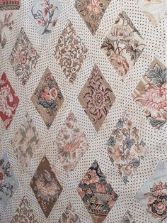 Civil War Quilts: Stars in a Time Warp Blotch-Ground Chintzes Antique Quilts, Vintage Quilts, Vintage Sewing, Patch Quilt, Quilt Blocks, Rag Quilt, Quilting Projects, Quilting Designs, Quilting Ideas