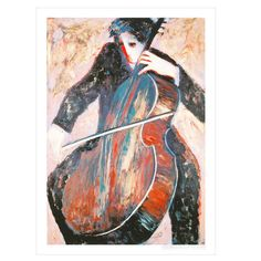 The Cellist By Barbara Wood...hangs next to my Steinway