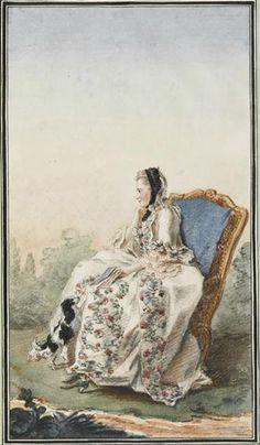 Mme de la Grangette, c. 1760-65 by Louis Caroggis Carmontelle (1717-1806)