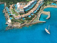 Elounda Peninsula All Suite Hotel, Crete. The most exclusive hotel in Greece, each suite has it's own private pool. Heraklion, Elounda Crete, Hotels And Resorts, Best Hotels, Luxury Hotels, Travel Around The World, Around The Worlds, Peninsula Hotel, Greece Hotels
