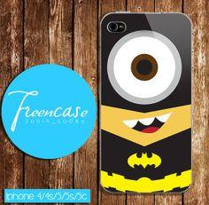 batman minion case for iphone 4 caseiphone  4s case by FreenCase, $15.55