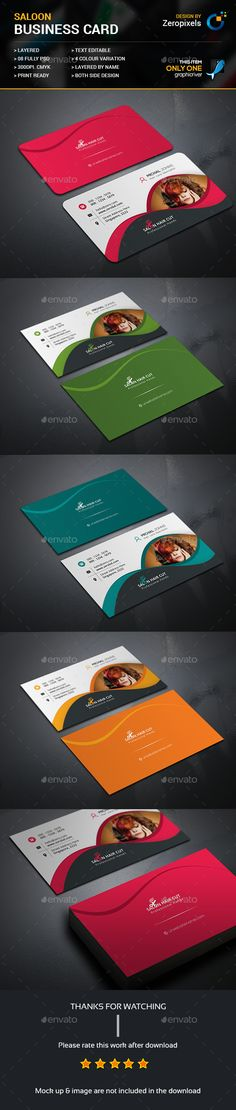 Hair Cut Salon Business Card Template PSD. Download here: https://graphicriver.net/item/hair-cut-salon-business-card/17472696?ref=ksioks