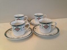 Set of 4 Four   Vintage Mikasa Studio Nova by LalasCollections