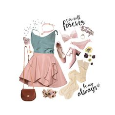 """forever my always"" by idaelinas on Polyvore featuring Margaret Howell, American Apparel, Miu Miu, vintage, pretty, pastel and millenialpink"