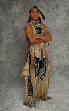 Native American Indians - can you imagine the skill, time and energy put into making his clothes... Amazing and breath taking...