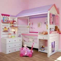 Modern Kids Shared Bedroom with Floor Beds Modernes Kinderzimmer mit Etagenbetten Girl Bedroom Designs, Girls Bedroom, Dream Bedroom, Budget Bedroom, Bedroom Decor, Bedroom Ideas, Bed Ideas, Kid Beds, Bunk Beds