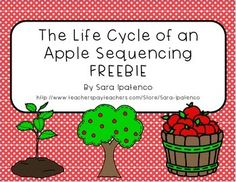 Thanks for downloading this freebie! It is a sequencing activity that teaches the life cycle of an apple, starting with seed and going until the apple gets eaten. It is a great complement to your plant unit or as part of a Johnny Appleseed celebration!