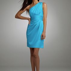 Malibu Blue! The color I want for the wedding! Malibu blue, silver, and white!  Ooooo!  Cute dress, but not what I want.