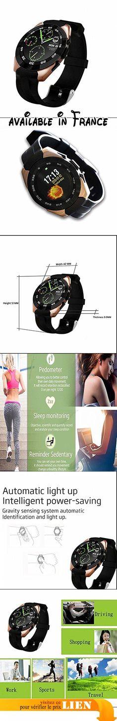 Montres Connectées Smart Watch Bluetooth 4.0, Bidirectionnel Anti-Lost, Podomètre, Alarme/ Sédentaire Rappeler Support iOS et Android Smartphones. Rappelez-vous moniteur de sommeil Sédentaire, podomètre, tracker sommeil vous permet de maintenir une vie saine à tout moment, en tout lieu.. Sports Santé: Moniteur de fréquence cardiaque, enregistrement d'événement Tag. Calculer la route et la consommation d'énergie, pédomètre, anti-perte, SMS, écran de veille, réveil,