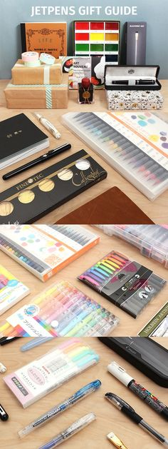 We've updated our Gift Guide just in time for the holidays! College Supplies, School Supplies, Art Supplies, Study Inspiration, Journal Inspiration, Exam Motivation, Japanese Stationery, Jet Pens, Primers