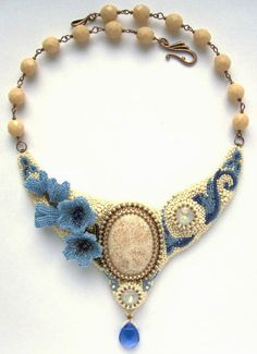Embroidered necklaces by Alina Limonova Bead Jewellery, Seed Bead Jewelry, Beaded Jewelry, Jewelery, Handmade Jewelry, Seed Bead Necklace, Beaded Necklace, Diy Bead Embroidery, Collars