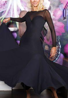 Chrisanne Ruffle Ballroom Dance Dress | Dancesport Fashion @ DanceShopper.com