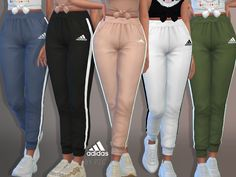 -Adidas Joggers available in 43 colours.(MM style) Found in TSR Category 'Sims 4 Female Athletic' Sims 4 Cc Kids Clothing, Sims 4 Mods Clothes, Sims 4 Toddler Clothes, Sims 4 Game Mods, Sims Mods, Vêtement Harris Tweed, Mode Adidas, The Sims 4 Cabelos, Sims 4 Children