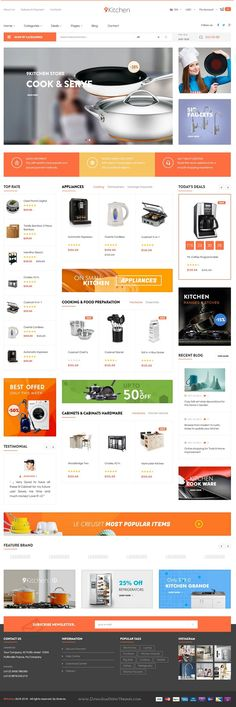 Pts Kitchen is advanced responsive PrestaShop Theme for #Kitchen Supplies #Store #website comes with 5 creative design and advanced features. Download Now!