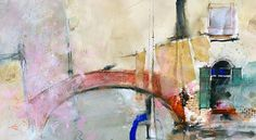 Pass This Way - Venice     © John Lovett..illustrates some of his uses for mixed media in his watercolors
