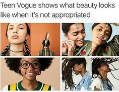 O my gosh, the girl at the bottom left is so cuuuute. They're all so pretty. I'm getting fonder and fonder of Teen Vogue they're great but they ignore an entire race (Romani people) The Maxx, Little Mac, Faith In Humanity Restored, Intersectional Feminism, Equal Rights, Human Rights, Lgbt Rights, Social Issues, Social Justice