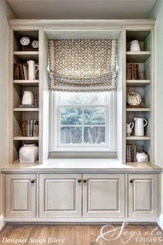 great nook w/built-ins (beautiful cabinet glazing by Segreto)