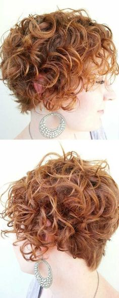 Pretty Curly Hair - Short Hairstyles for Women with Round Faces