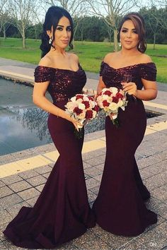 Maroon Bridesmaid Dress ,Stunning Sequin Bridesmaid Dress, Off Shoulder Sweep Train Mermaid Bridesmaid Dress, sold by fitdesigndress. Shop more products from fitdesigndress on Storenvy, the home of independent small businesses all over the world. Dark Red Bridesmaid Dresses, Off Shoulder Bridesmaid Dress, Red Bridesmaids, Mermaid Bridesmaid Dresses, Mermaid Dresses, Lace Mermaid, Shoulder Dress, Mermaid Sweetheart, Mermaid Gown
