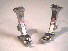 Bernina YouTube Channel; 60 tutorials re: Presser-feet 4) BERNINA presser feet -- Overlock foot #2/2A