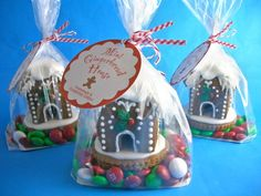 mini gingerbread: Idea:: you could make gingerbread houses out of paper sacks! Christmas Gingerbread House, Christmas Sweets, Christmas Cooking, Christmas Goodies, Holiday Fun, Christmas Holidays, Christmas Crafts, Gingerbread Houses, Gingerbread Train