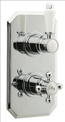 Old London - Chrome Traditional Twin Thermostatic Shower Valve - at Victorian Plumbing UK Shower Valve, Shower Faucet, Old London, Types Of Plumbing, Plumbing Installation, Hudson Reed, Shower Accessories, Hard Water, Vanity Units