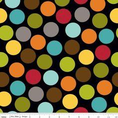 Bella dots black (Franela) de La Retalera por DaWanda.com