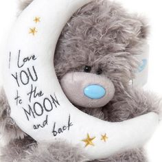 baby teddy bear If you truly love someone, let them know with Me to You. This 'Signature' collection Tatty Teddy holds a beautiful white moon shaped pillow, finely embroidered with gold Teddy Bear Quotes, Teddy Bear Images, Baby Teddy Bear, Teddy Bear Pictures, Cute Teddy Bears, Tatty Teddy, Nici Teddy, Hug Quotes, Blue Nose Friends