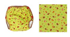 Name: Hedgehogs & Mushrooms  Alternate Names: Hedgehogs  Fabric & Designer: Hedgehogs from Cosmo Tex  Sizes Produced: S-L  Cover Type: Classic    Did you know? This was the first Japanese Import fabric that GEN-Y turned into diaper covers.  Visit GEN-Y for more cloth diaper covers!