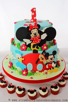 Disney Mickey Mouse Clubhouse Cake and Cupcakes