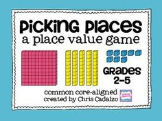 Common Core Place Value Math Game- FREE math game for grades Common Core aligned, with differentiation ideas and higher order thinking questions. Place Value Math Games, Game Place, Fifth Grade Math, Fourth Grade, Grade 3, Just In Case, Just For You, Math Intervention, Math Classroom
