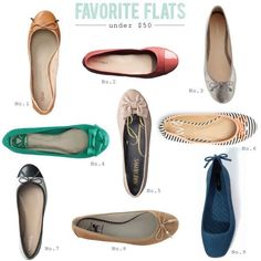 Favorite Flats for under $50 |  I just absolutely LOVE Flats... Nothing more comfortable!