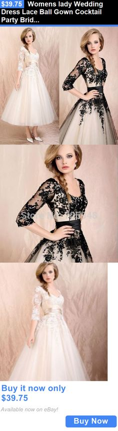 Sexy Women Dresses: Womens Lady Wedding Dress Lace Ball Gown Cocktail Party Bridal Formal Evening BUY IT NOW ONLY: $39.75