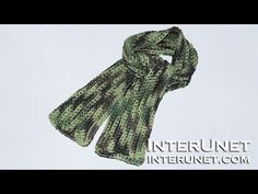 How to crochet a scarf for a child - easy for beginners pattern - YouTube