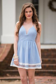 """Day In The Park Dress, Blue"""