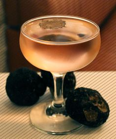 MAMO Restaurant in Soho is home to the Martini Di Tartufo cocktail. The indulgent concoction is made with black moth truffle vodka, dry vermouth and Campari.